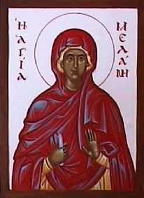 Sainte Mélanie la Romaine (fêtée le 31 décembre)